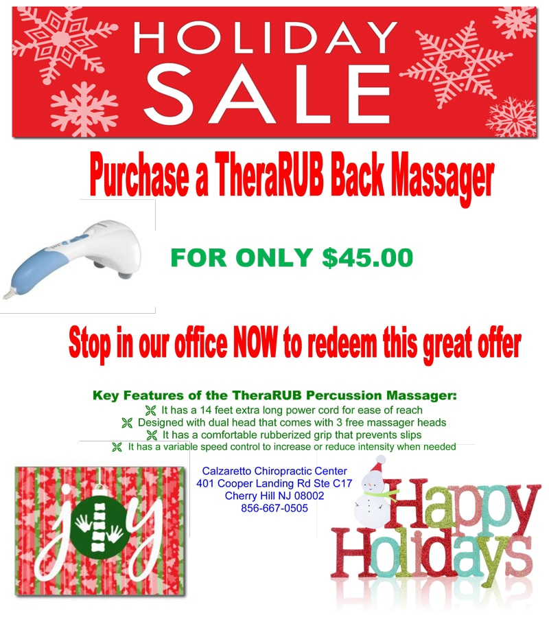 Holiday Sale at Calzaretto Chiropractic Center