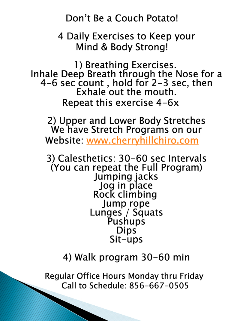 Daily Exercises by Calzaretto Chiropractic Center
