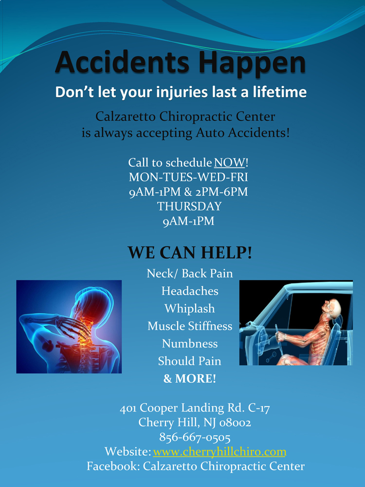Chiropractic Care for Whiplash in Cherry Hill NJ
